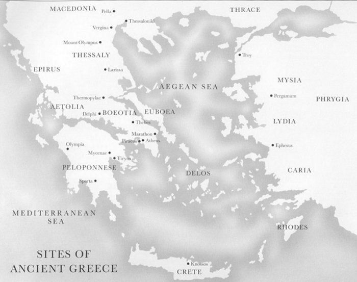Map Of Ancient Greece And Surrounding Areas