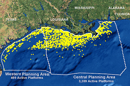 Environment map of platforms in the gulf of mexico sciox Gallery